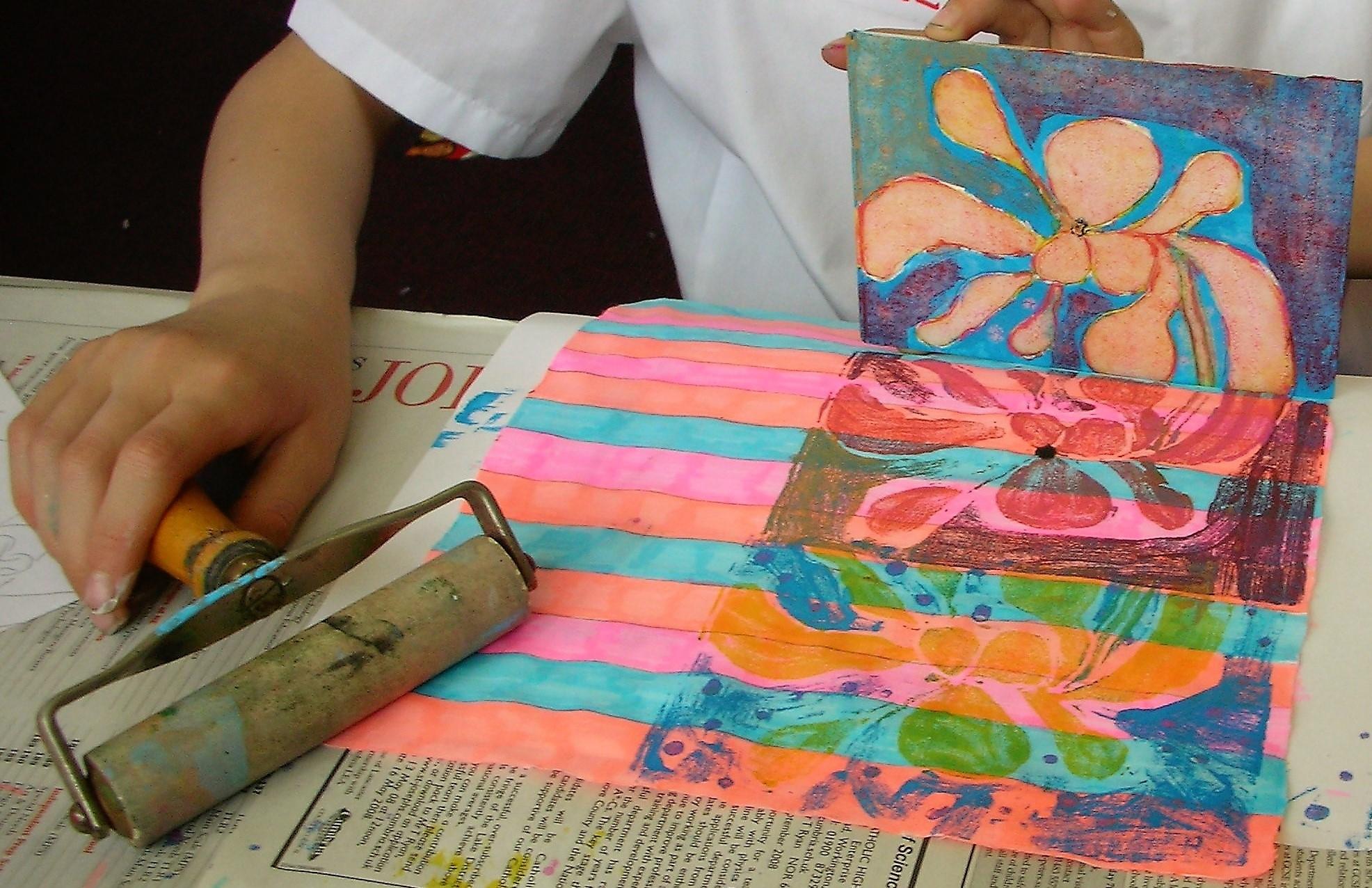 Print Making Workshops for Schools