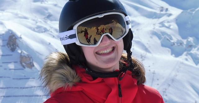 girl in ski goggles
